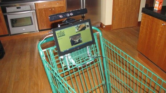Kinect powered shopping cart? CRAZY!