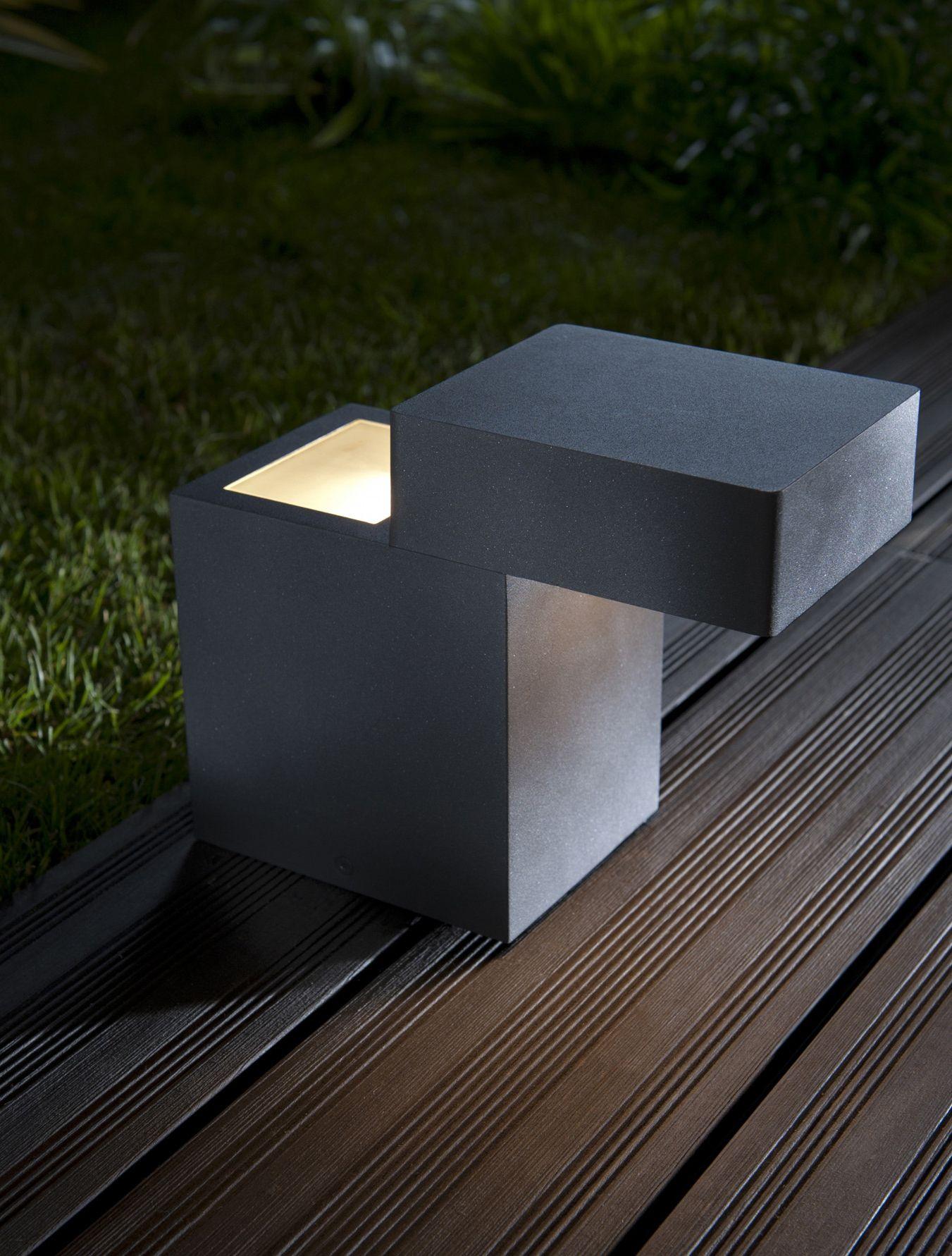 borne ext rieure blooma dubb gris anthracite cm eclairage pinterest ext rieur. Black Bedroom Furniture Sets. Home Design Ideas