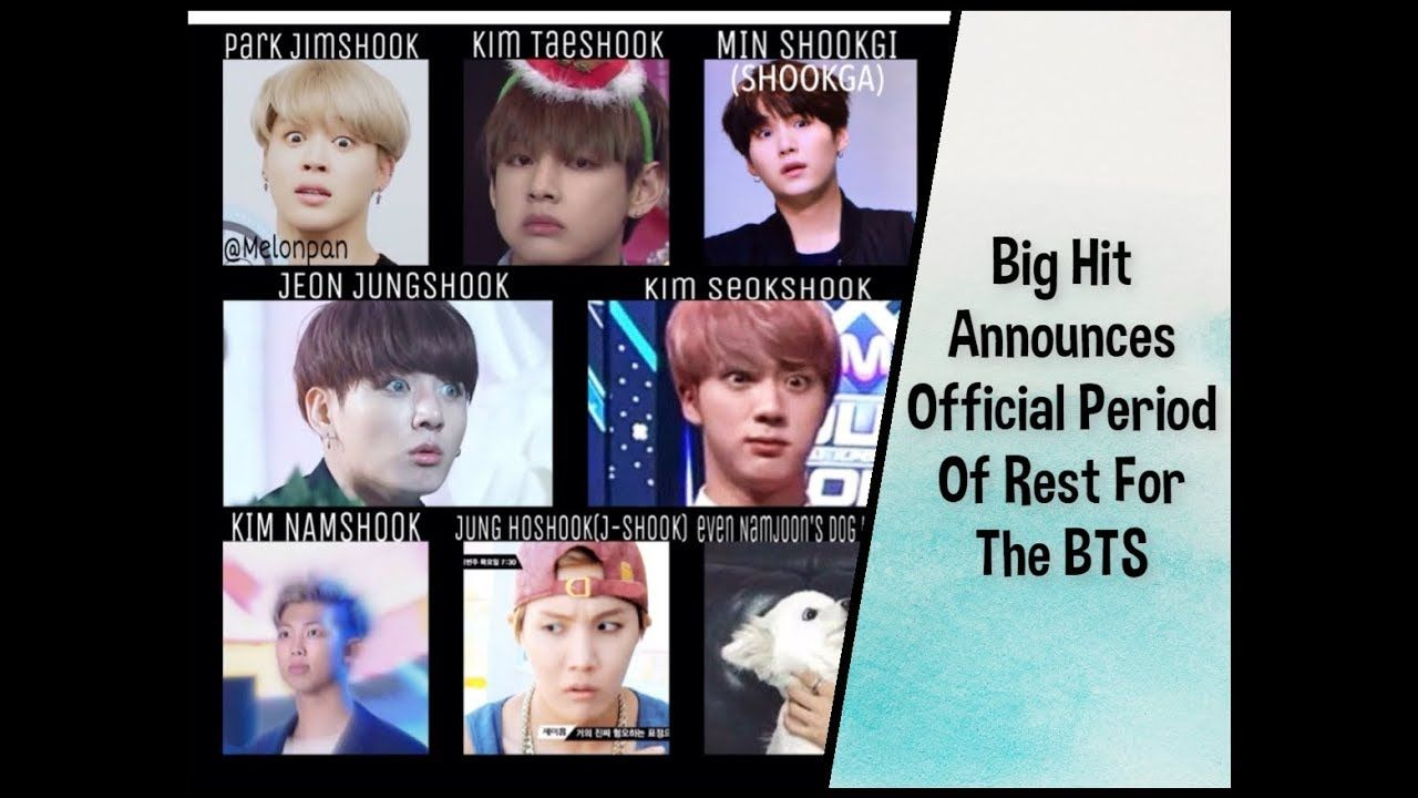 Big Hit Announces Official Period Of Rest For The Bts Members Please Like And Subscribe To My Channel For More Kpop Updates Https Ww Bts Members Bts Period