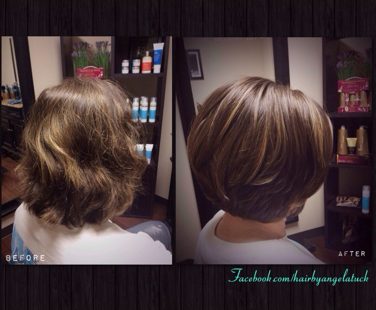 Haircut with soft layers. Bob. Hair by Angela Tuck. Lebanon tn  Hair