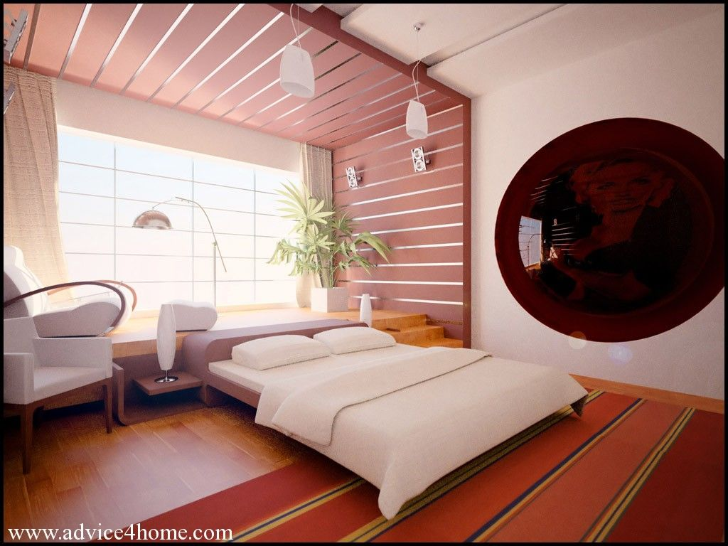 Pink Wall Design With False Ceiling Design And White Bad Design In Bad Room Bad Room Design