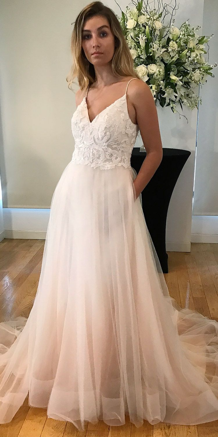 This Kelly Faetanini blush wedding dress with pockets is the ...