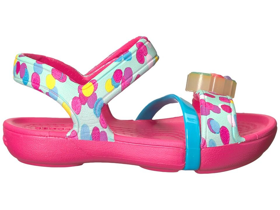 2601b2d4c Crocs Kids Lina Lights Sandal (Toddler Little Kid) Girls Shoes Paradise Pink