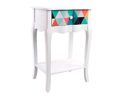 Mueble de noche con cajón en madera Colores
