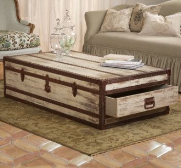 Trunk Coffee Table Nice Because The Drawers Open From Either Side And Not Top Like Other Storage Tables