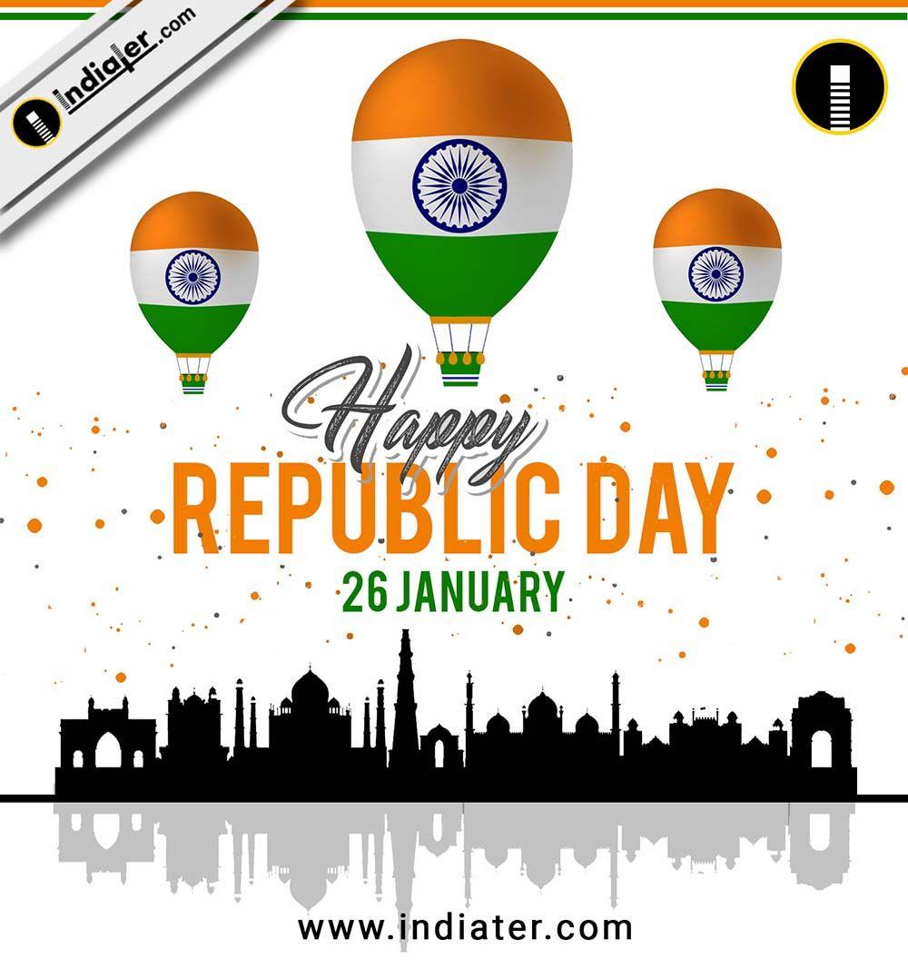 India Republic Day celebration 26 January with egreeting
