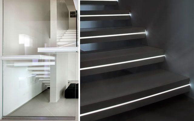 decofilia te muestra ideas y ejemplos grficos para decorar escaleras con luz una opcin
