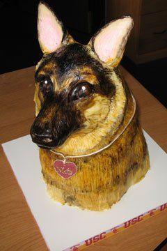 Amazing German Shepherd Dod Birthday Cake Dog Cakes Dog Birthday Cake Personalised Birthday Cards Vishlily Jamesorg
