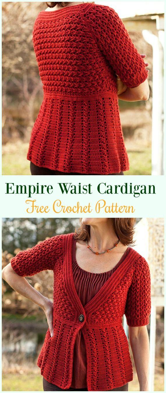 Crochet Women Summer Jacket Cardigan Free Patterns Boleros Jackets