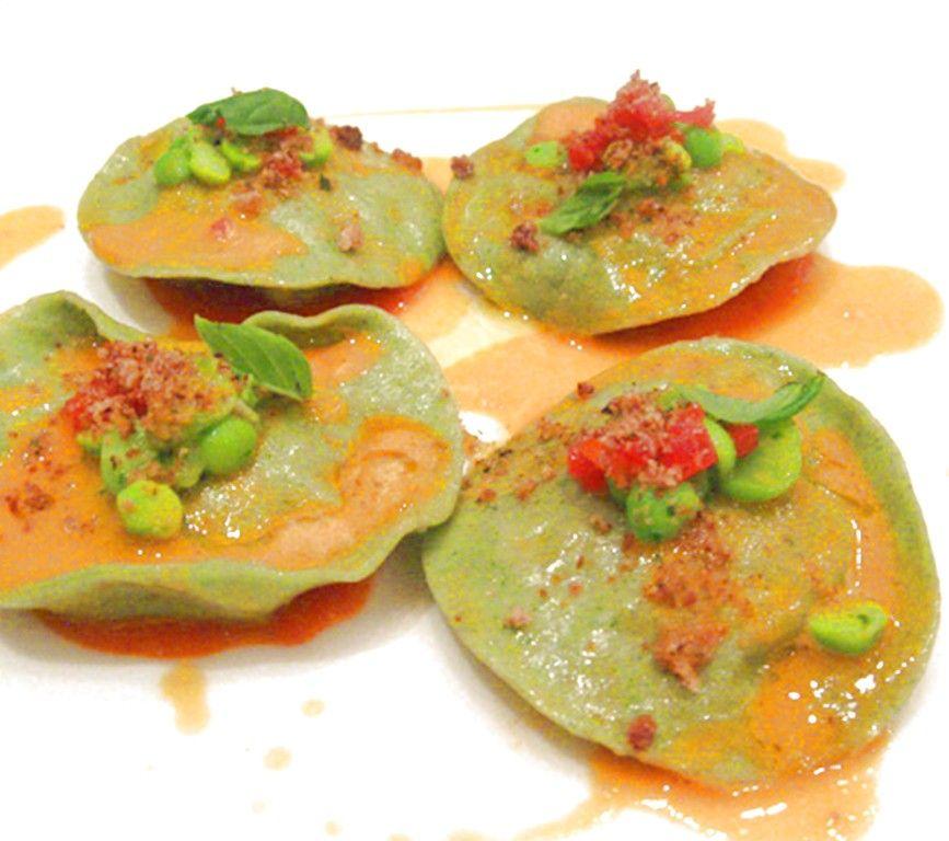Tortelli freschi di semola e ortica farciti con gamberi for Cucinare ortica