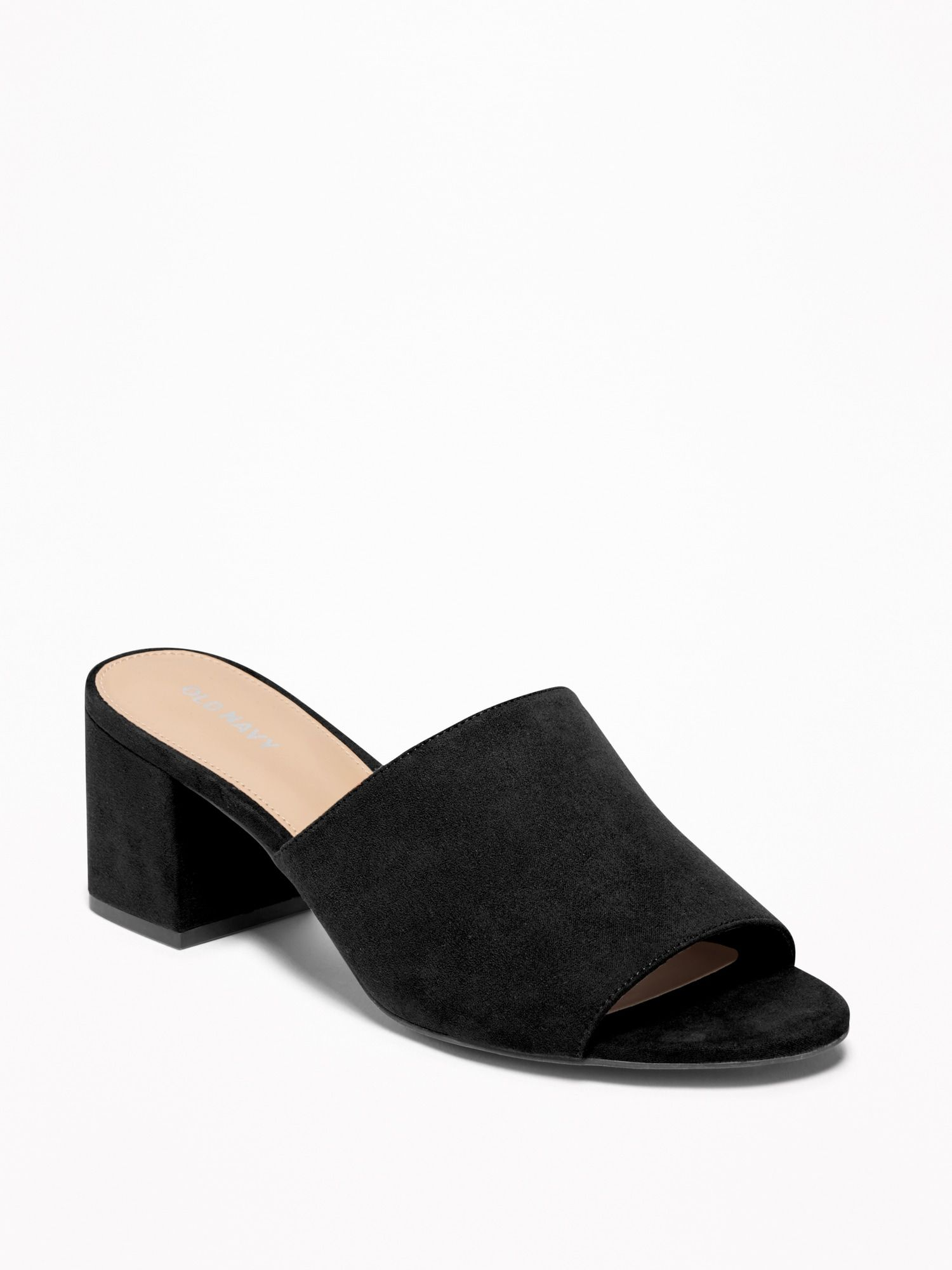 super cute big sale innovative design Sueded Mule Block-Heel Sandals for Women   Mules shoes, Heeled ...