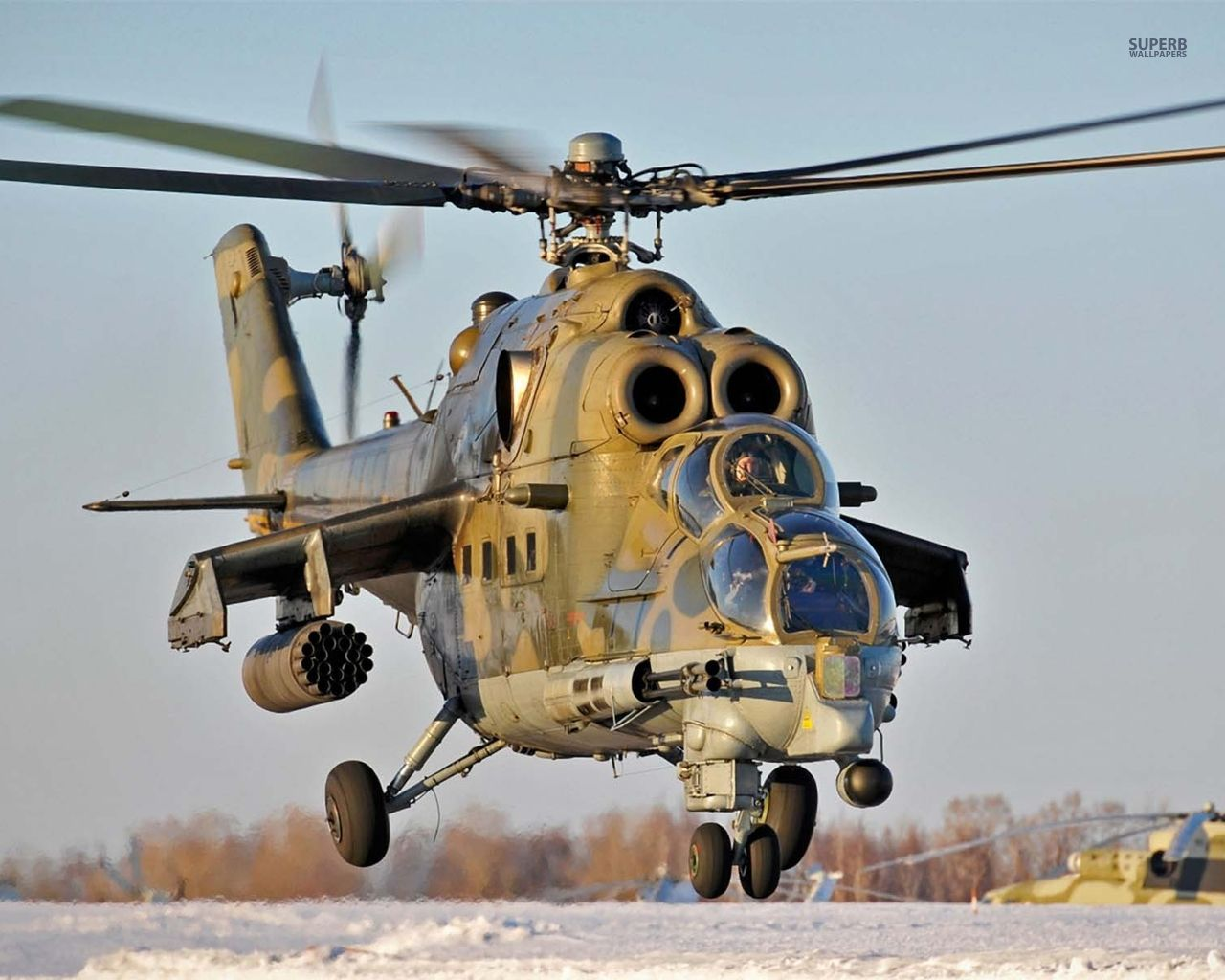 Mil Mi 28 Helicopter Winter Snow Wallpaper Aviation