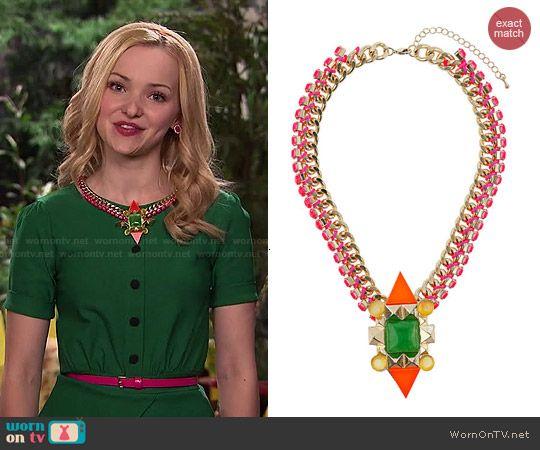 Liv's necklace on Liv and Maddie.  Outfit Details: http://wornontv.net/47845/ #LivandMaddie