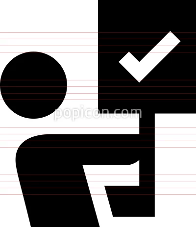 Person Holding Picket Sign Vector Icon Vector Icons Icon Picket Signs