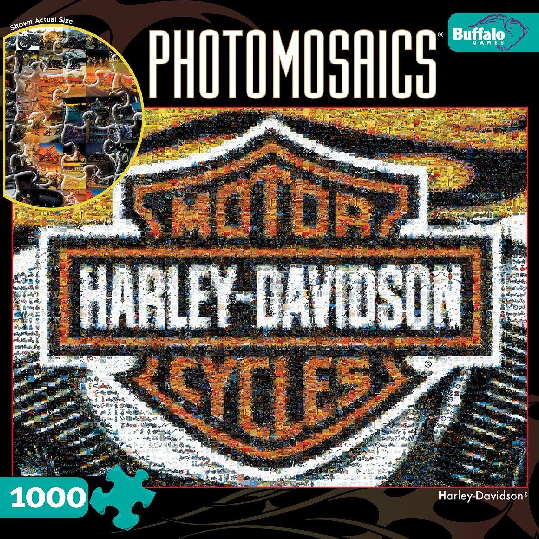 Photomosaic HarleyDavidson 1000 Pieces Jigsaw Puzzle