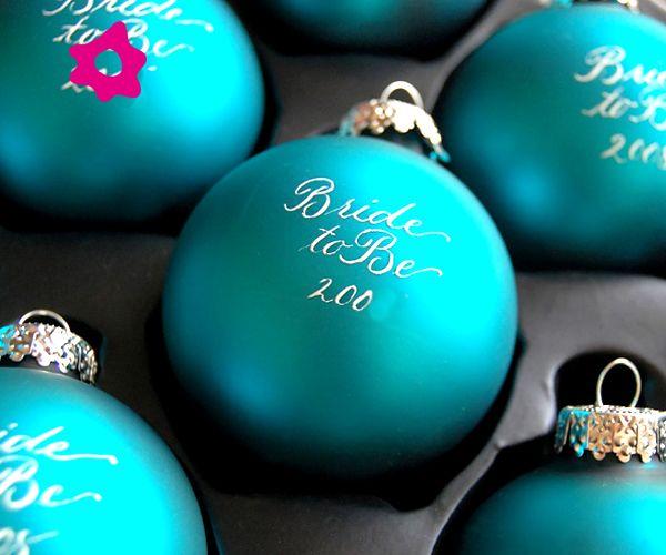 Bolas del rbol de navidad como regalo para invitados a la - Como sorprender en navidad ...