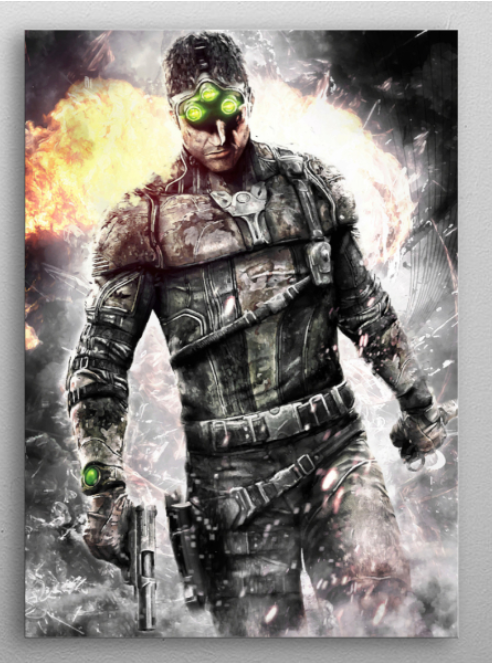"Splinter Cell sam fisher poster #Displate explore Pinterest""> #Displate #RedBubble explore Pinterest""> #RedBubble #WallArt… | Displate thumbnail"