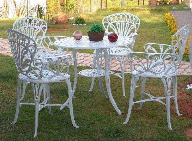 Mesa E Cadeira Para Jardim Primavera Jardim Moveis Com
