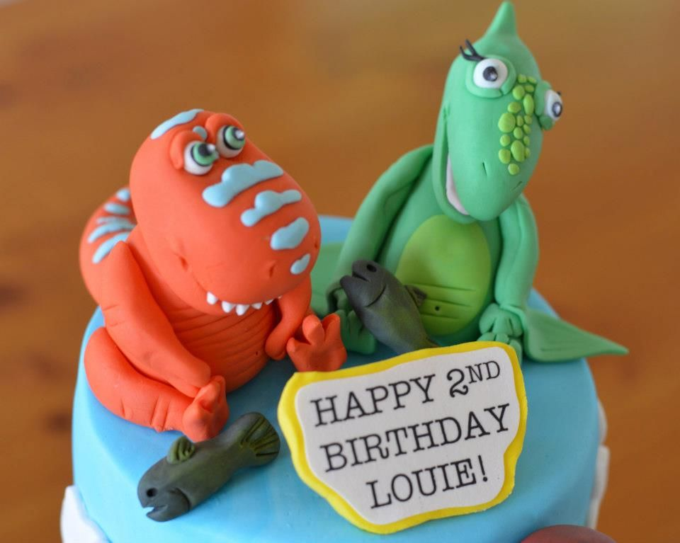 Dinosaur train happy 2nd birthday edible cake toppers