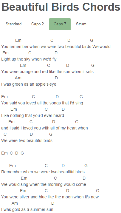 Beautiful Birds Chords Passenger | Passenger | Pinterest | Beautiful ...