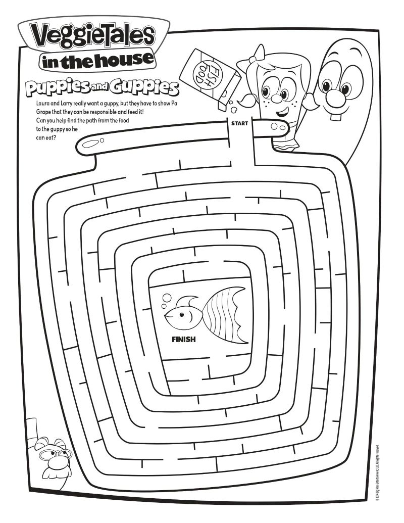 Veggie Tales Maze Activity Page | Printable Coloring Pages, Crafts ...