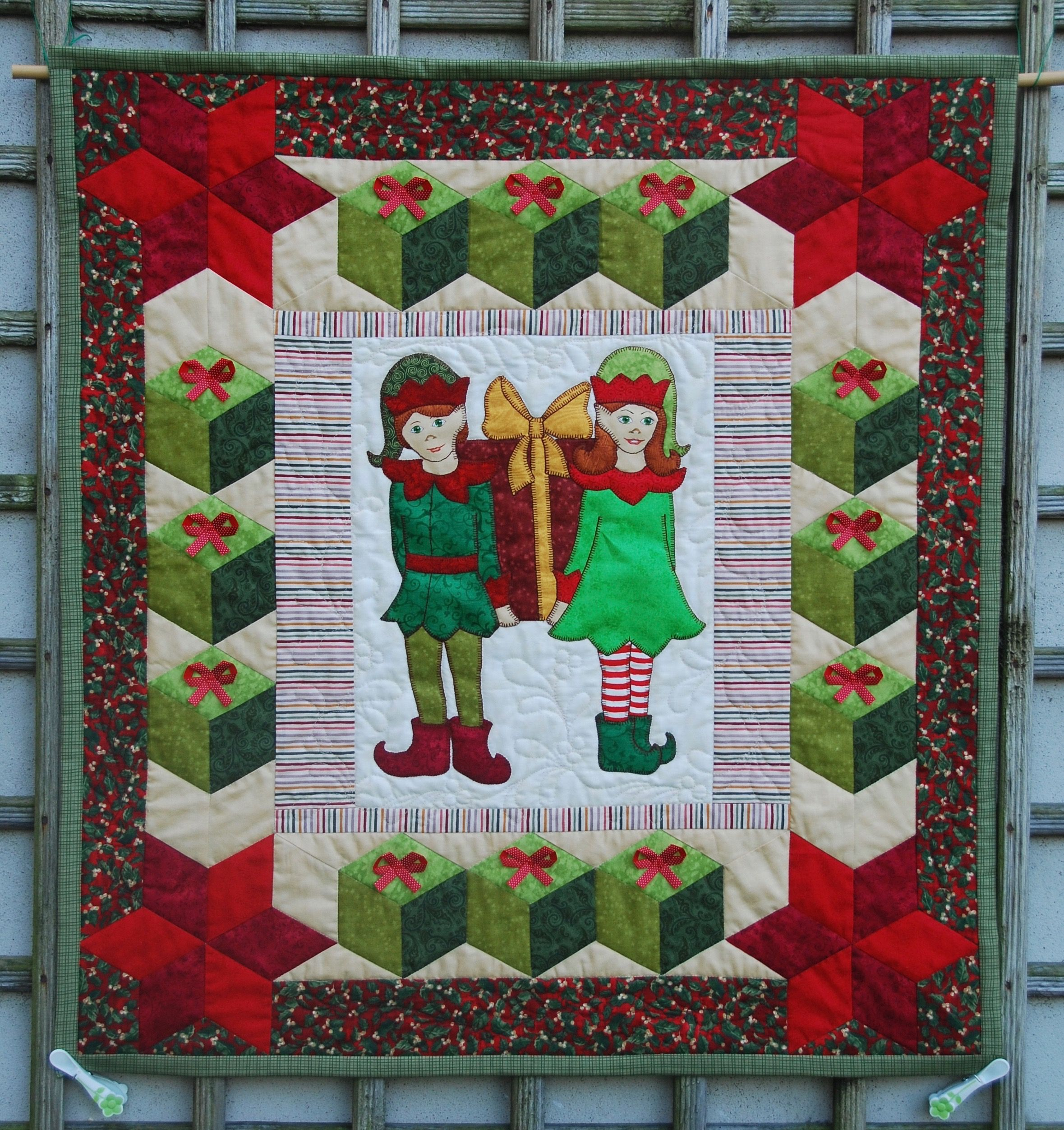 Pinterest Christmas Quilted Wall Hangings Pin By Quilt Inspiration On Christmas Quilts Christmas Elf