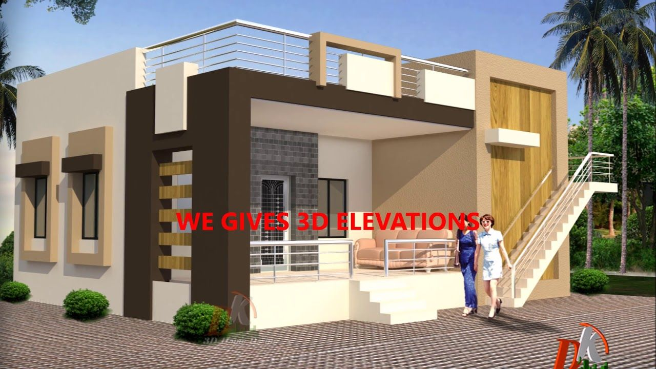 Simple Ground Floor Home Plan 3d House Plans House Plans Free House Plans