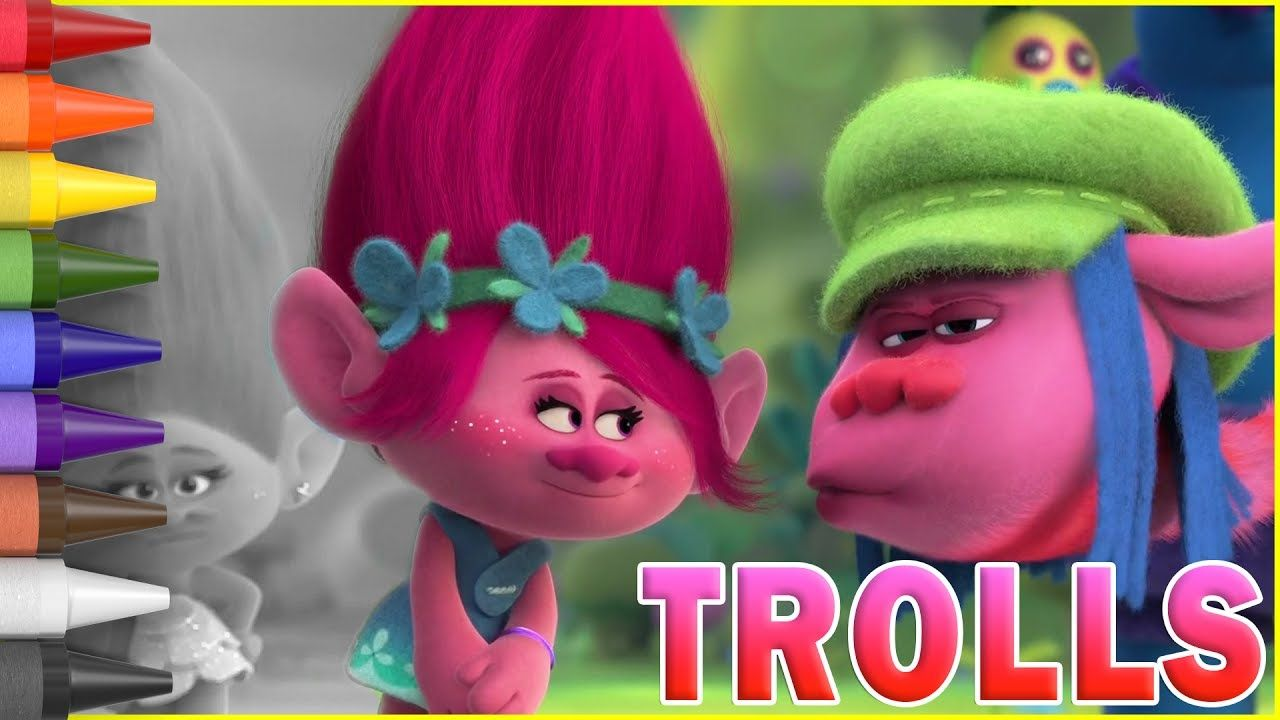 Coloring Pages Trolls : Coloring trolls poppy and cooper kids coloring book coloring