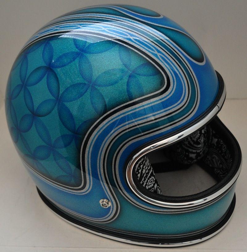 Craftsmanship Helmet Paint Vintage Helmet Chopper Helmets