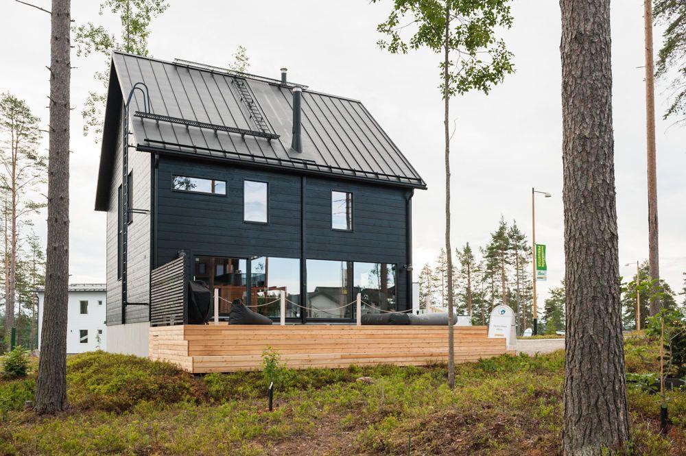 Honka Ink Asuntomessut Modern Barn House Log Homes Scandinavian Architecture