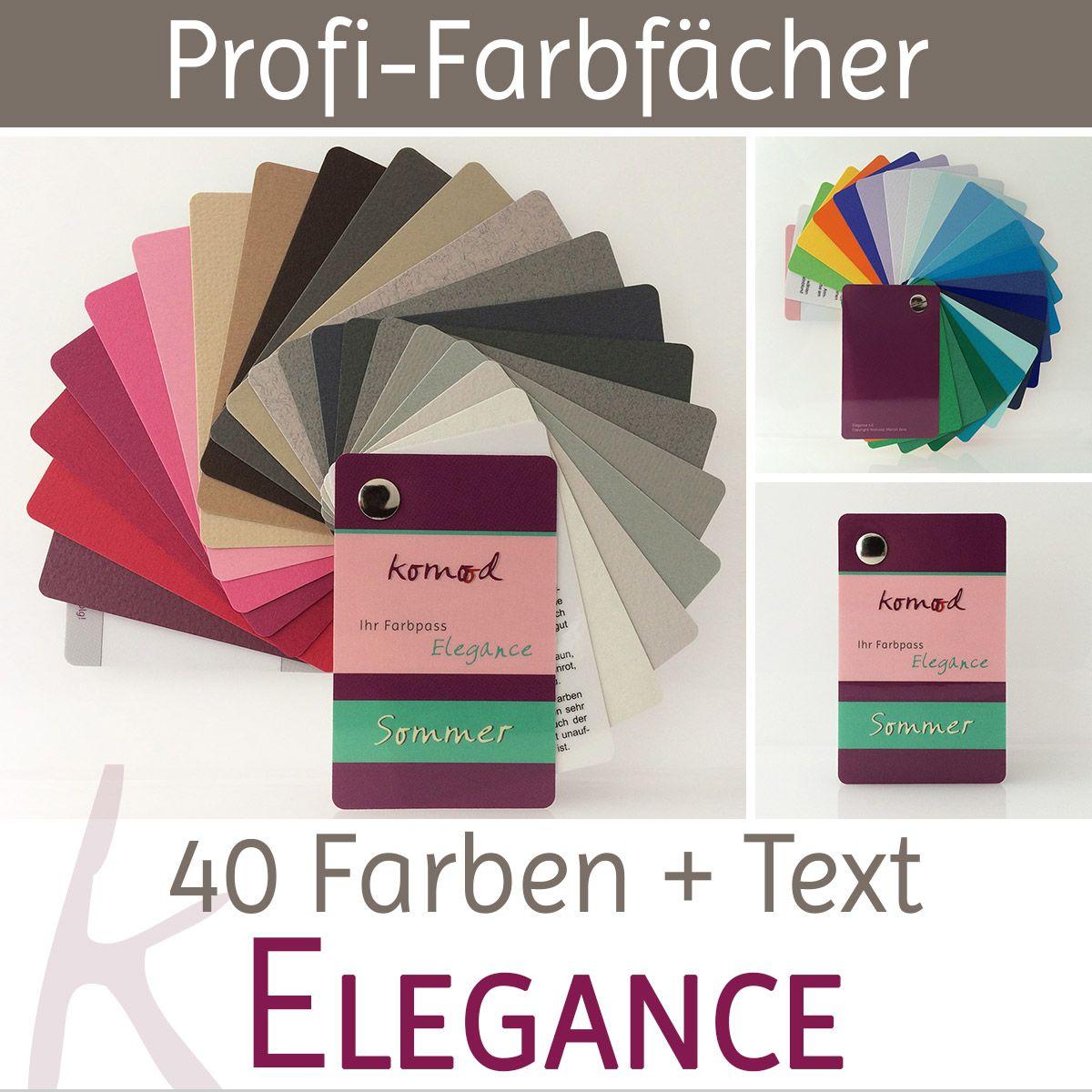Farbfächer / Farbpass Farbtyp Sommer mit je 40 Farben Elegance