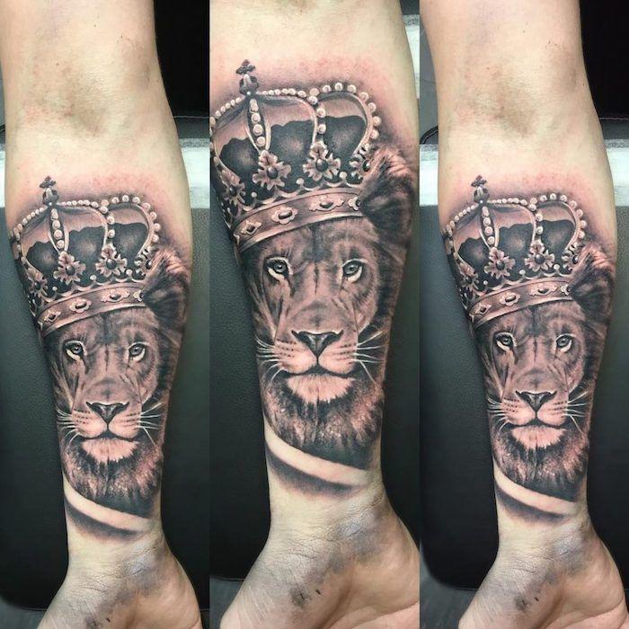 Tattoo Löwe Krone