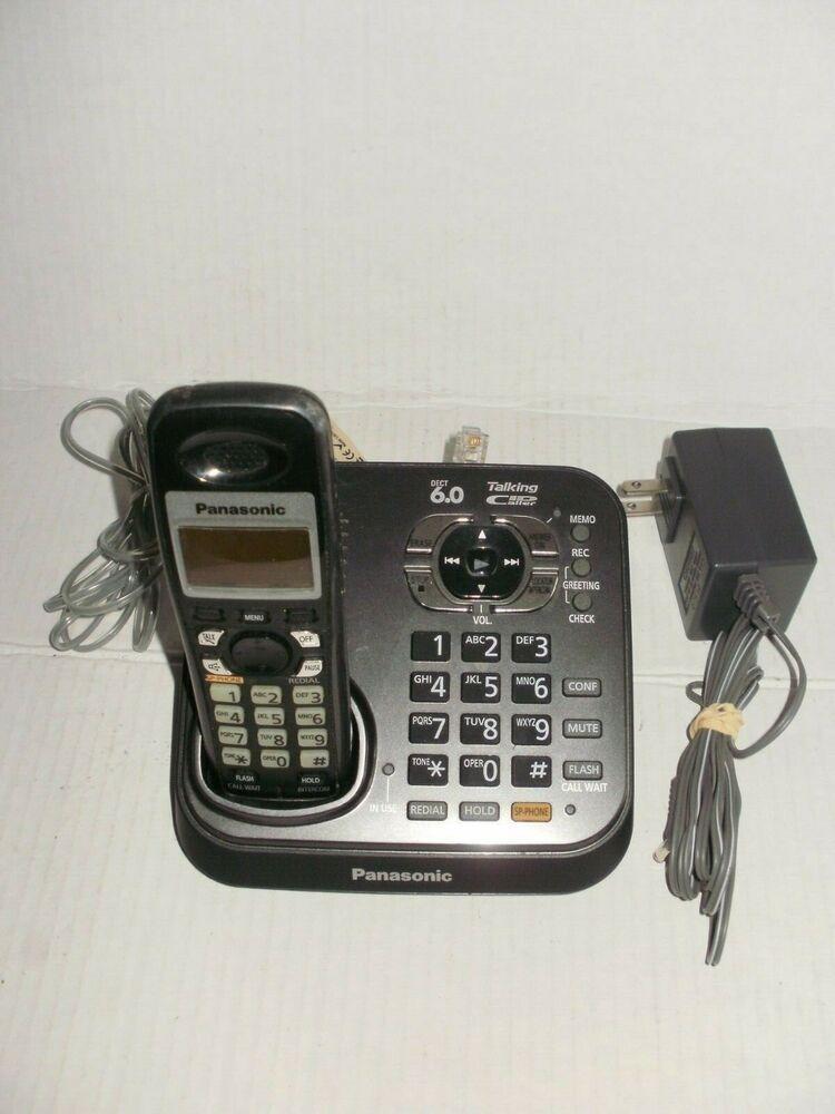Panasonic Kx Tg9341t 1 9 Ghz Single Line Cordless Phone 37988479504 Ebay In 2020 Cordless Phone Phone Cordless Telephone