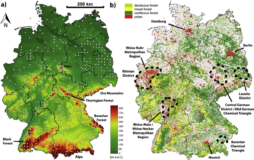 Image Result For Topographic Map Of Germany Maps Pinterest - World elevation map interactive
