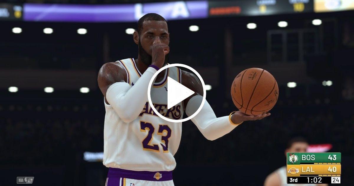 05a83061c7d NBA 2K19 Los Angeles Lakers vs Boston Celtics Full Match   PS4 Pro (4k 60fps