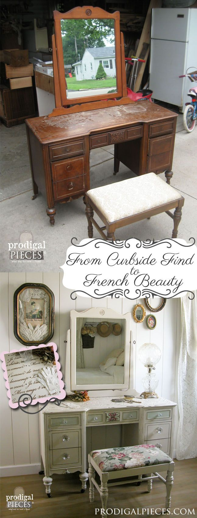 Antique vanity found curbside to french beauty french beauty antique vanity found curbside to french beauty shabby chic dressing tableikea geotapseo Images