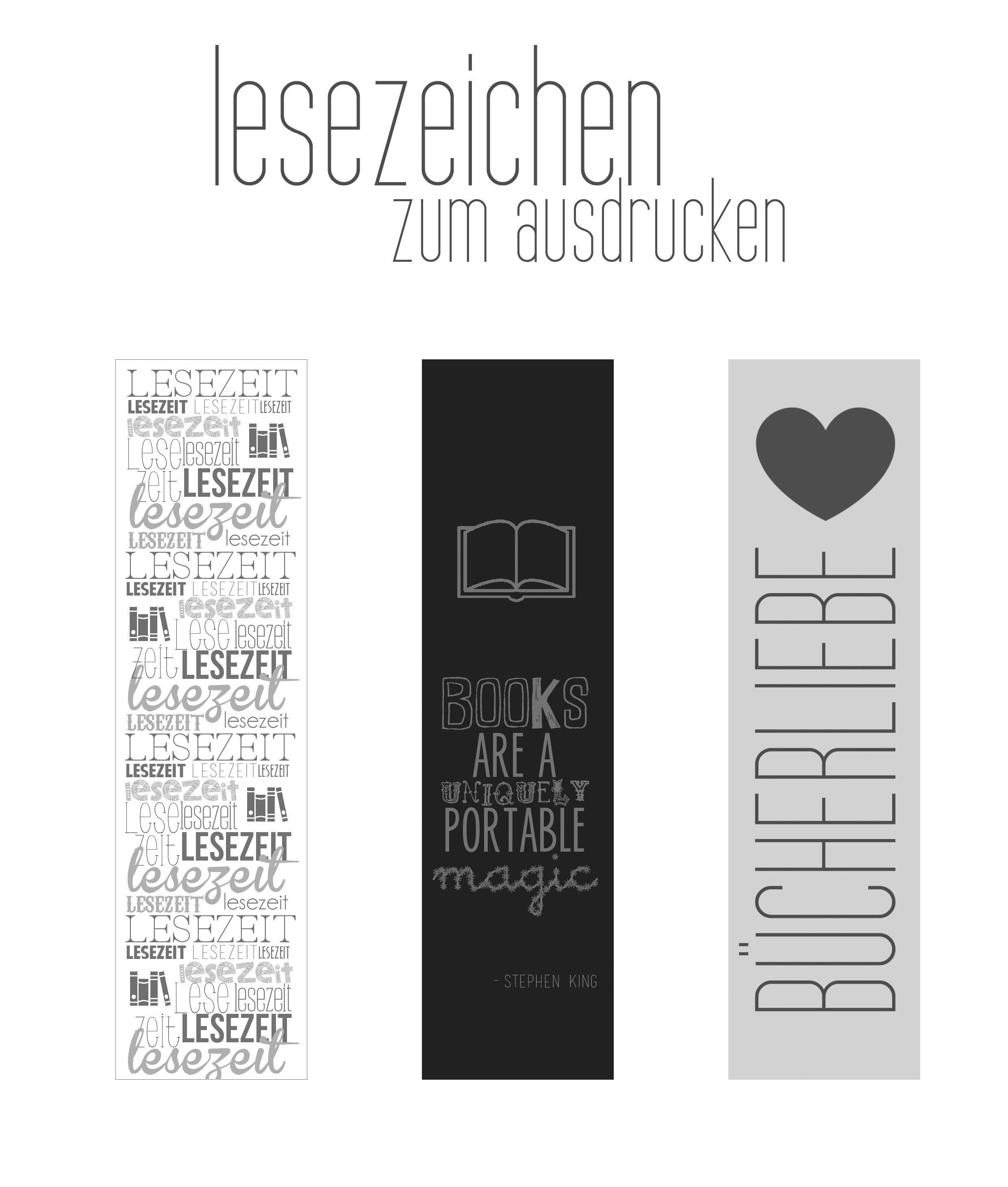 Super Freebie: Lesezeichen zum Ausdrucken (Printable | طباعه | Diy WL76