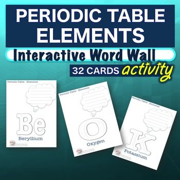 No prep warm up bell ringer periodic table elements interactive no prep warm up bell ringer periodic table elements interactive word wall activity these periodic urtaz Images