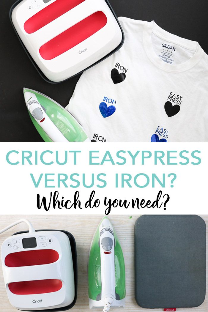 Cricut EasyPress Versus Iron: Which is Better? #cricutvinylprojects