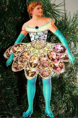 EKDuncan - My Fanciful Muse: Victorian Ladies - Articulated Paper Doll Ornaments for Christmas