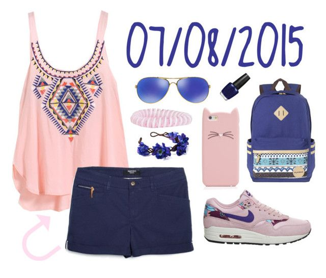"""07/08/2015"" by apcquintela ❤ liked on Polyvore featuring MANGO, NIKE, Oakley, Kate Spade, OPI and Accessorize"