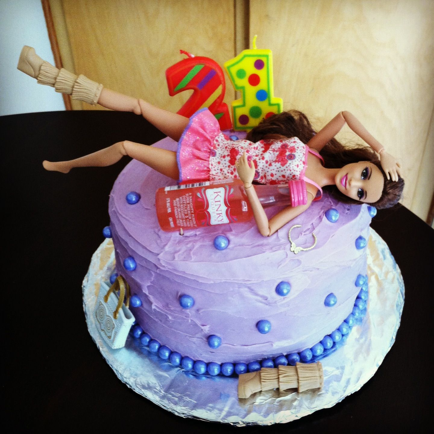 Birthday Cake For Sister Images : The Drunk Barbie Cake I Made My Sister In Law. I Made It ...