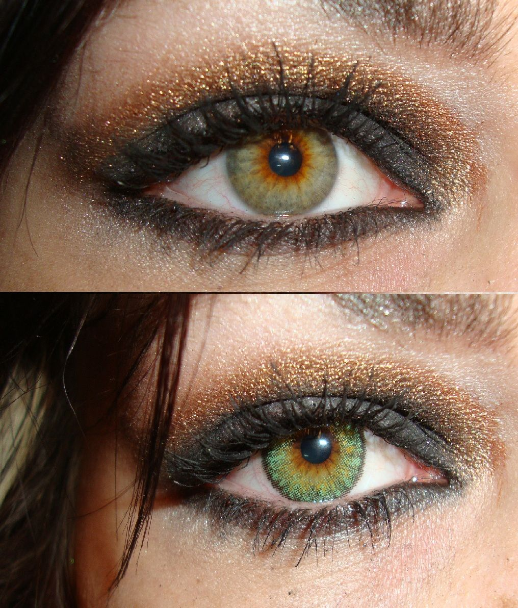 Color Contacts Are So Much Fun. The Top One Is My Natural