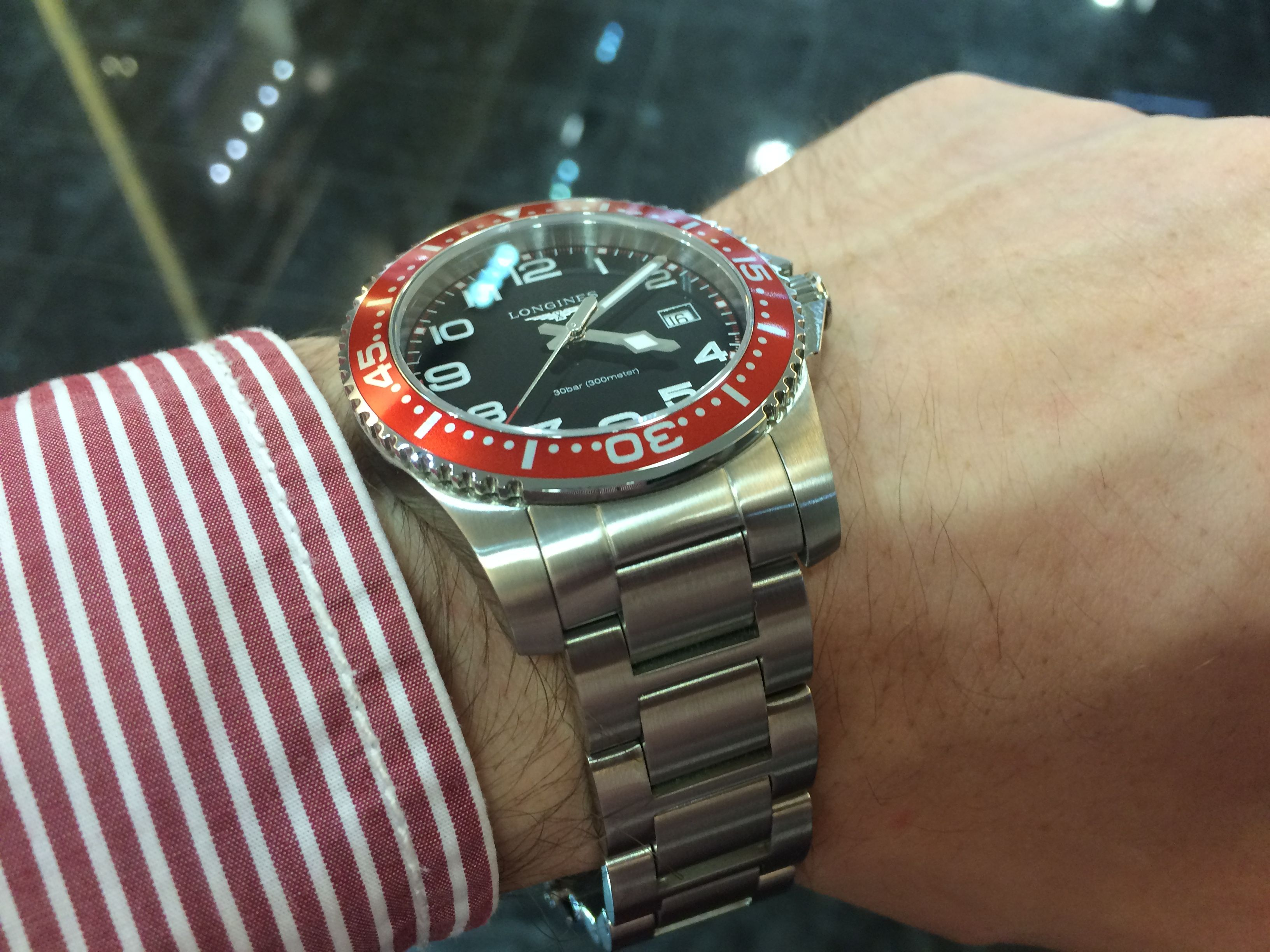 8cd933bb160c Longines Hydro-conquest red bezel Hodinky Rolex