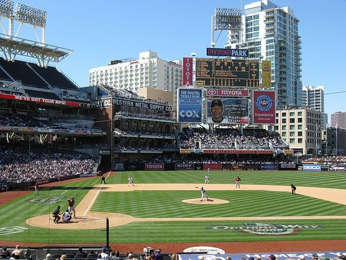 PETCO Park - home of the San Diego Padres. The view of the field ...