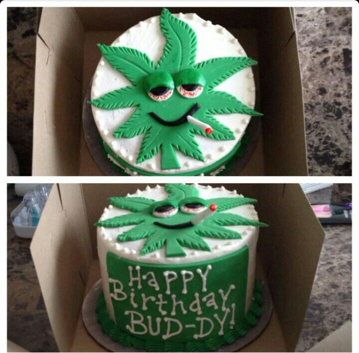 Marijuana Birthday Cake Cakes And Other Goodies Pinterest