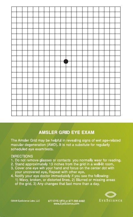 Amsler Grid Magnet Attach To Your Refrigerator Or A Convenient