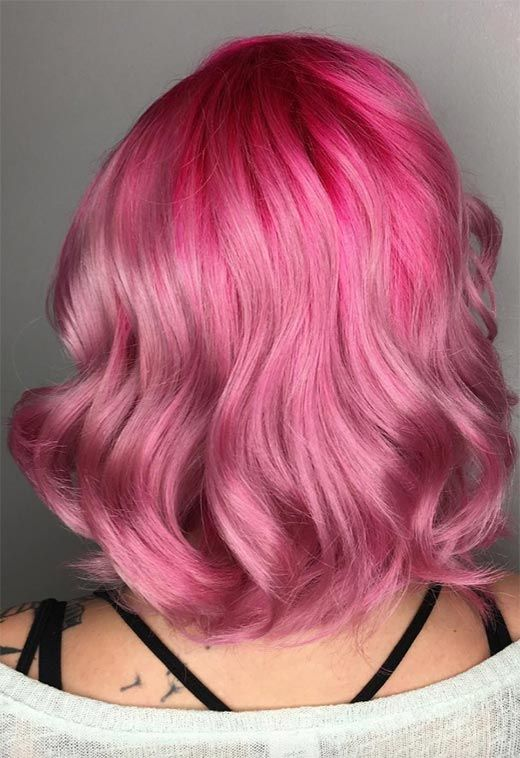 55 Lovely Pink Hair Colors Tips For Dyeing Hair Pink With Images Vivid Hair Color Pink Hair Hair Color Pictures