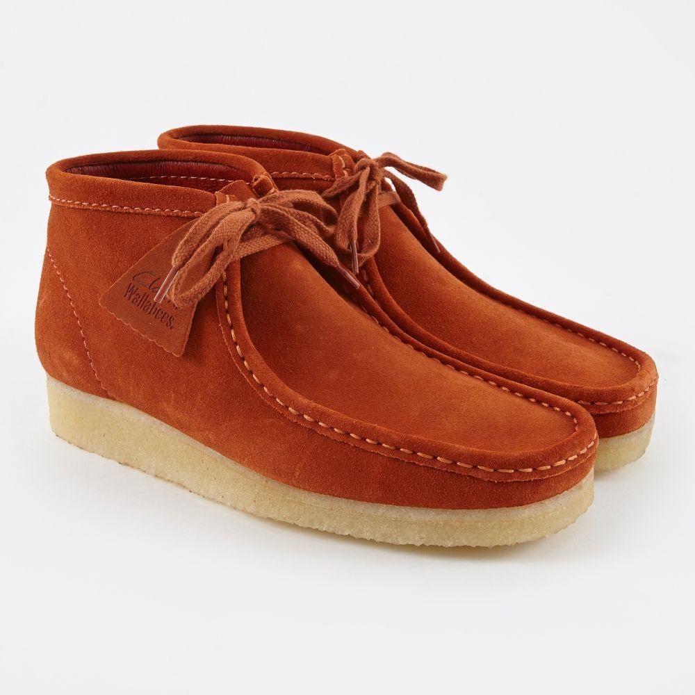 58e61fe240e Clarks Originals Clarks Wallabee Boot - Rust Vintage Suede (Image 1 ...