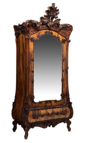 French Olive Wood Art Nouveau Armoire, C. 1900 #AntiqueFrenchFurniture # ArtNouveau